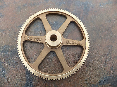 "Boston Gear G1049 Worm Gear, Spoke, 14.5 PA Pressure Angle, 0.375"" Bore 100:1 RH"