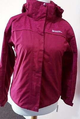 Mountain Warehouse Girls Waterproof Hooded Rainproof Jacket Coat Pink 11_12 year