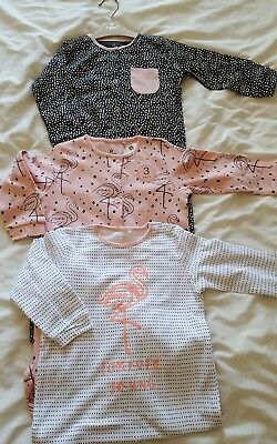 NEW ⭐Bnwt NEXT Baby Girl Newborn 0-3 6-9-12-18  Flamingo Sleepsuits/Babygrows x3