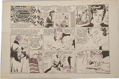 GRAY MORROW - Barbara Cartland Sunday Comic Art Strip 2-1-81