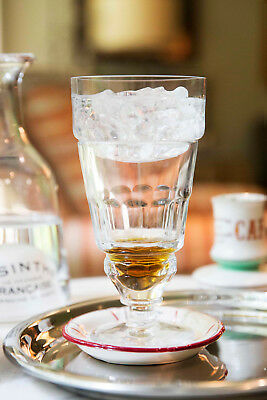 Traditionnel Pontarlier Absinthe Glass & 10 Sugar Cubes