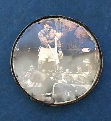 Muhammad Ali Vintage Style Oil Barrel Large Clock Industrial Rustic Brand New