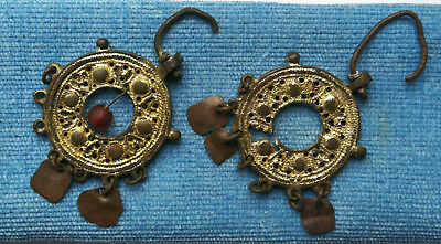 Ancient Viking. Earrings of gold-plated bronze.VERY RARE