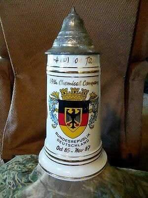 69th Chemical Company Old Ironsides Bundesrepublik Heinrich Korb 85-87 Stein 24K