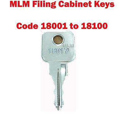 MLM Replacement Filing Cabinet Keys Cut to Code 18001 - 18100