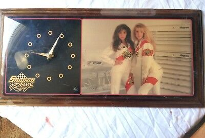 Vintage Snap-On Tools Pin-Up Girl Wall Clock Sign Snap On Racing Girls