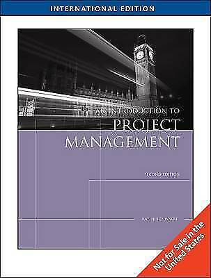 An Introduction to Project Management, International Edition, Schwalbe, Used; Ve