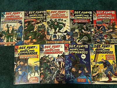 Lot of 9 Sgt. Fury and his Howling Commandos - #'s 30,31,32,33,34,35,36,38,39