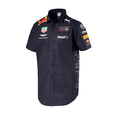 Herren Hemd Aston Martin Red Bull Racing F1 Team 2018 Größe S