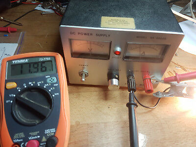 Analogue bench power supply with twin meters