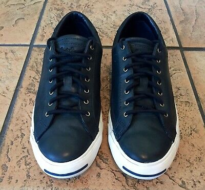 346b23ba77d59d Converse Jack Purcell Black Leather Sneakers Men s 8.5 Nordstrom Very Clean!