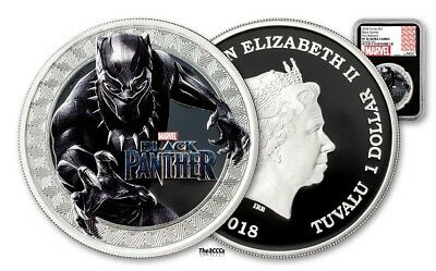 BLACK PANTHER - MARVEL - 2018 Silver Coin - NGC PF70 UC First Releases