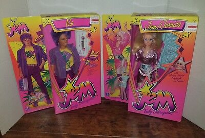 JEM/JERRICA doll and Rio doll Jem and the Holograms 1985 Hasbro