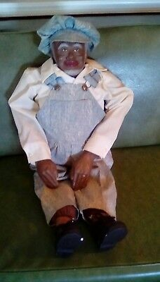 ceramic African American male doll 32inch tall