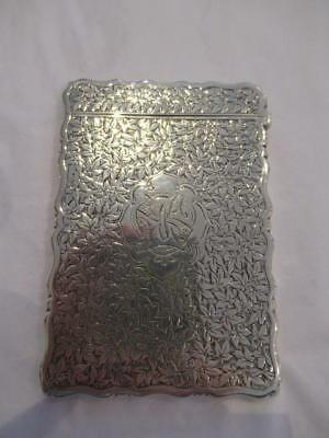 Hallmarked Solid Silver George Unit Card Case 1894