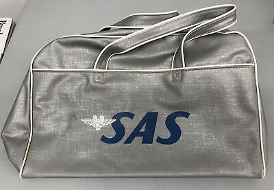 Vintage 70s SAS Scandinavian Airlines Travel Bag Carry On 100% AUTHENTIC
