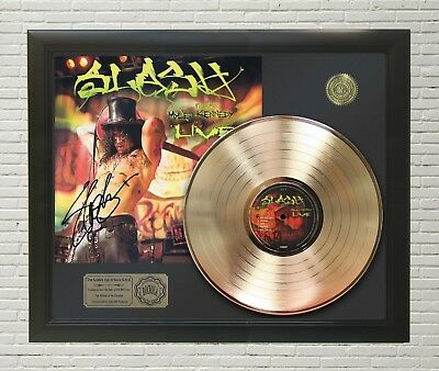 "Slash - Made In Stoke Gold Lp Ltd Framed Signature Display ""M4"""