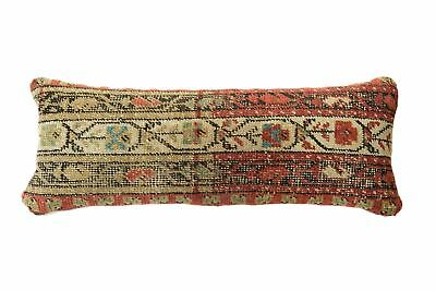 Antique Rug Fragment Skinny Lumbar Pillow