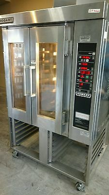 2009 Hobart HO300G Gas Bakery Mini Rotating Rack Convection Oven