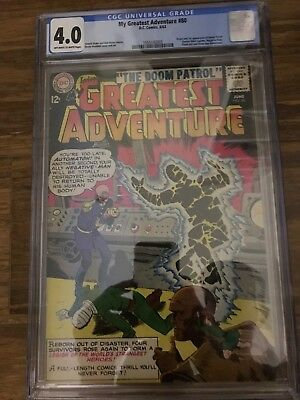 My Greatest Adventure #80 4.0 CGC! (Jun 1963, DC) First Doom Patrol!!  Titans!