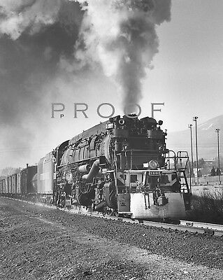 SOUTHERN PACIFIC: Fine 8x10 B&W of AC9 2-8-8-4 #3803 action at El Paso 1953
