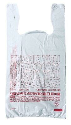 T-Shirt Thank You-Gracias Plastic Grocery Shopping Carry-Out Bags-FREE SHIPPING