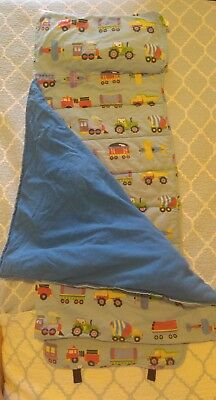 Olive Kids Train, Planes and Trucks Nap Mat /  Sleeping Bag 21 x 45 inches