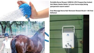 Portable Horse Shower 12KW 6L LPG Propane Gas Instant Hot Water Free UK Delivery