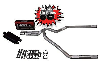 88-95 Chevy Silverado Truck Dual Exhaust Kit Flowmaster Super 10 Chrome Tips