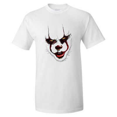 Mens Womens Unisex Fashion celeb Designer Pennywise IT T Shirt Scary Top TPW