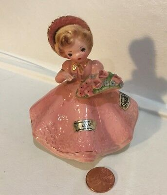 """Vintage~1960s~Josef Originals~May~Doll of the Month Series~Pink Gown~4""""~Japan"""