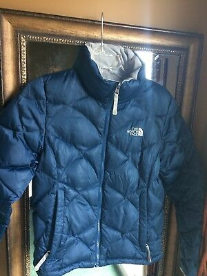 5da7b32c17 WOMENS SIZE SMALL The North Face Down Filled Blue Puffer Jacket Coat ...