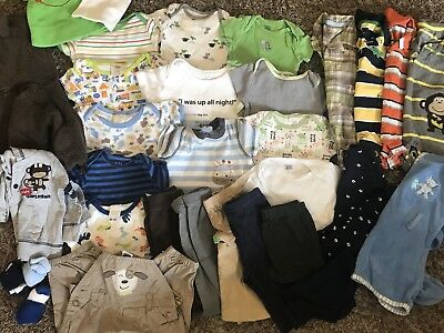 Huge Lot~Baby Boys Clothes~Size 0-3 Months