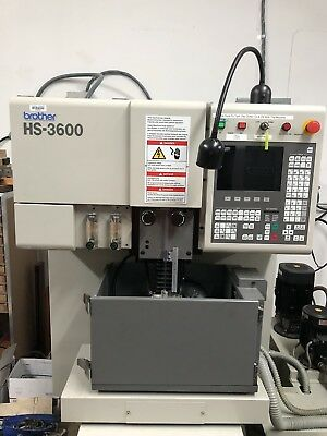 Brother HS-3600 WEDM Wire EDM 4 Axis Scales, Owned By School Low Hours Cnc