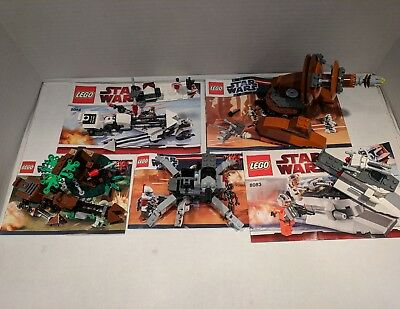 Lego Star Wars Sets Lot Of 5 8083 9488 9491 With Instructions No