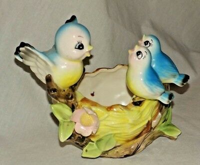 Vintage NORCREST Birds in a Nest 1950's Planter Adorable~ Very Nice Condition