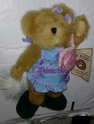".🐻 Boyds Bears ""Dustina Do It All.Domestic"" #94657GCC 8"" Bear-GCC Exclusive NWT"
