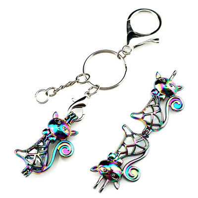 COLORFUL Running Horse Key Ring Aroma Diffuser Cage Diffsuer Keychains Y179