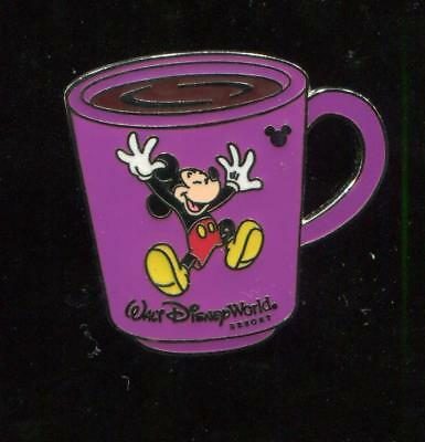 WDW Cast Lanyard Collection 4 Coffee Mugs Mickey Mouse Disney Pin 41633