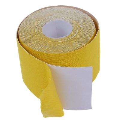 1 Roll Muscles Care Fitness Athletic Health Tape 5M * 5CM - Yellow C6F3