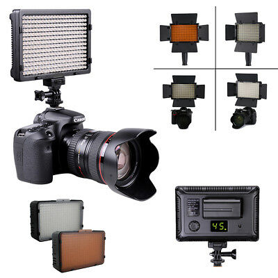 308 LED Digital Camera Video Camcorder Light Dimmable Panel Lamp for Canon Nikon