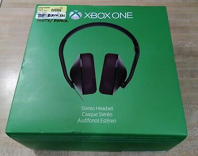Microsoft XBOX ONE Stereo Headset Model 1610, 1626 - FOR PARTS/REPAIR ( READ)