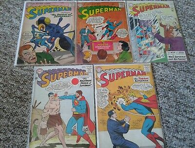 Silver/bronze age collection of 53 superman type comics mid/high grade