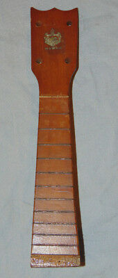 Antique Hawaii 4 String Wooden Ukulele Neck Estate Fresh Luthier Parts