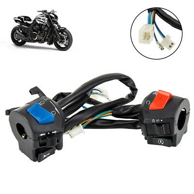 Universal 7/8'' Motorcycle Handlebar Horn Turn Signal Control Left Switch NEW