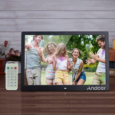 "Andoer 15.6"" LED Digital Photo Frame Picture Movie Player Remote Control UK Plug"