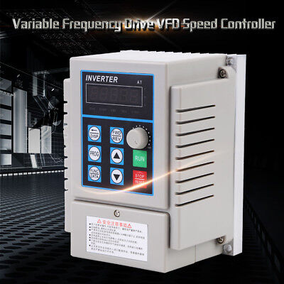 220V 0.75kW Single Phase 3PH Variable Frequency Drive VFD Speed Controller oe