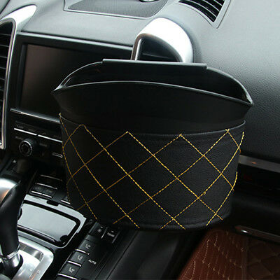 1pcs Car Garbage Can Hanging Recycle Bin Universal Bucket Trash Bag For Litter