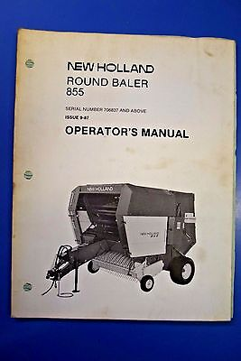 new holland round baler 858 operators manual 9 99 picclick rh picclick com New Holland Round Baler Vermeer Hay Baler