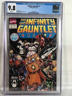 INFINITY GAUNTLET #1 CGC 9.8 MINT WHITE PAGES THANOS AVENGERS WAR MARVEL Glove